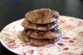 chocolate rhubarb cookies 1